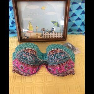 Shade & Shore Bikini swimsuit top strapless  NWT
